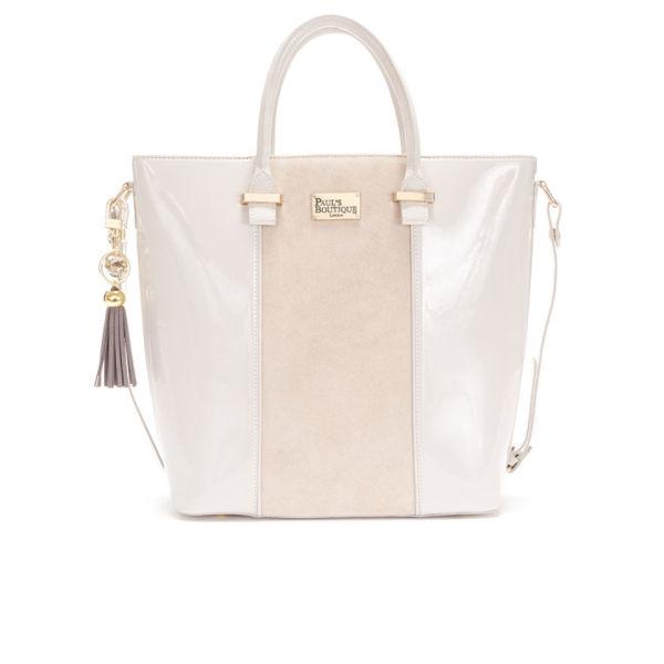 Paul S Boutique Natasha Suede Tote Bag Stone Image 1
