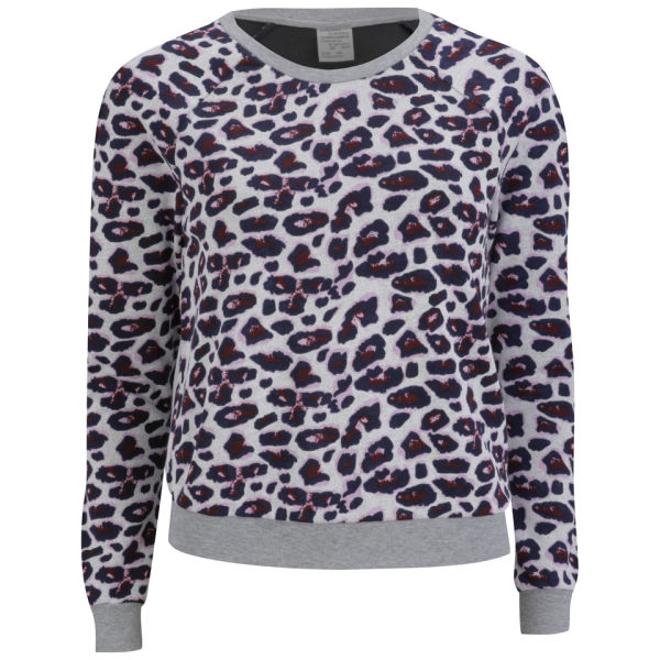 Baum und Pferdgarten Womens Elmar Sweatshirt - Rosa Leopard