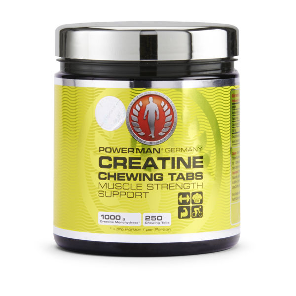 PowerMan Creatine Chewing Tabs