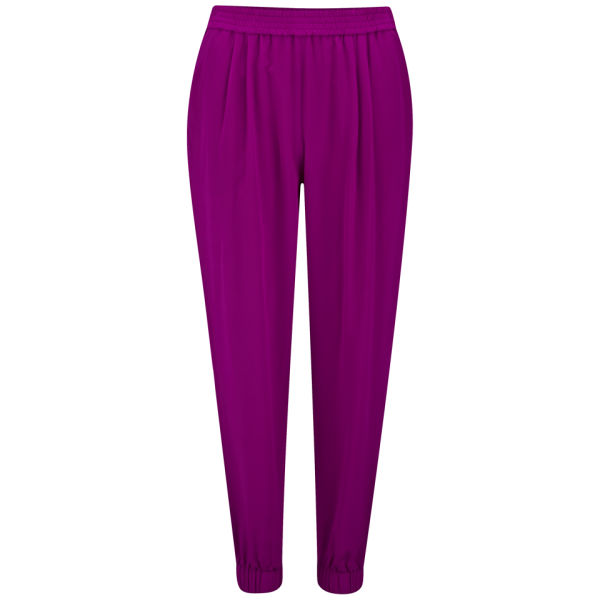 Diane von Furstenberg Women's Janeta Silk Trousers - Lotus Berry