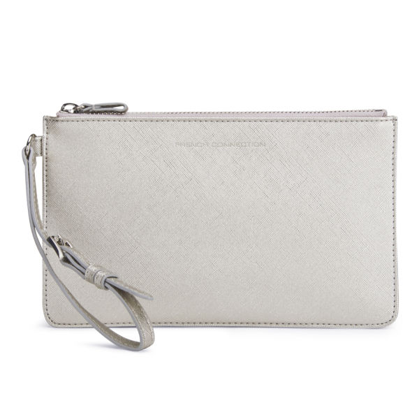 French Connection Adira Metallic Clutch Bag Silver Image 1
