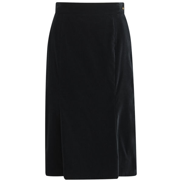 Vivienne Westwood Red Label Women's Boudoir Velvet Midi Skirt - Black
