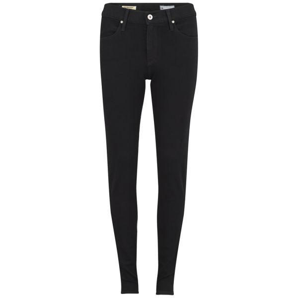 AG Jeans Women's Farah High Rise Skinny Jeans - Black