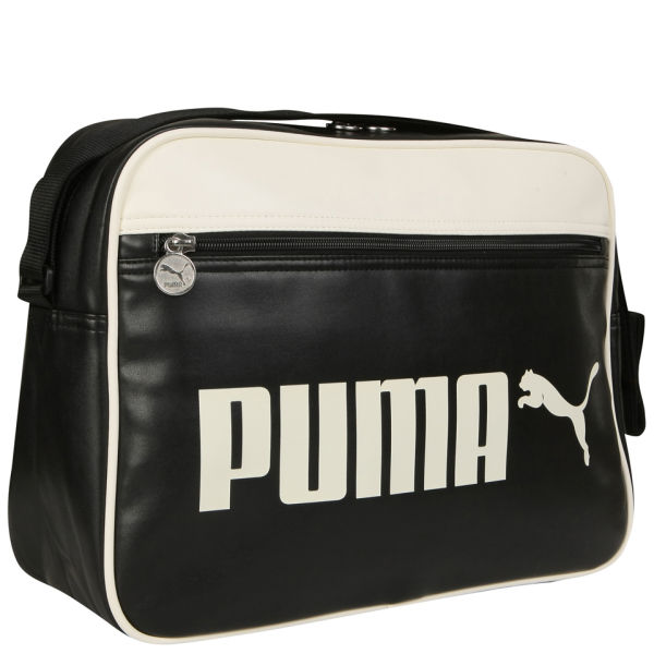 Puma Men s Campus Reporter Bag - Black White  Image 2 5c5ef0018db14