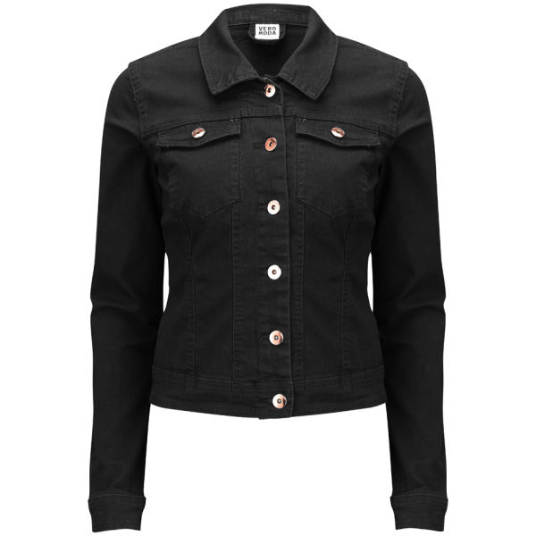 Vero Moda Women's Vietta Denim Jacket - Black Womens Clothing ...