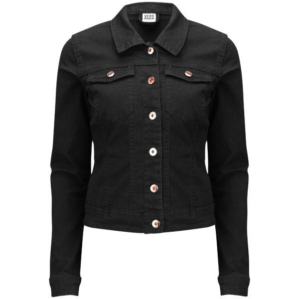Vero Moda Women 39 S Vietta Denim Jacket Black Womens