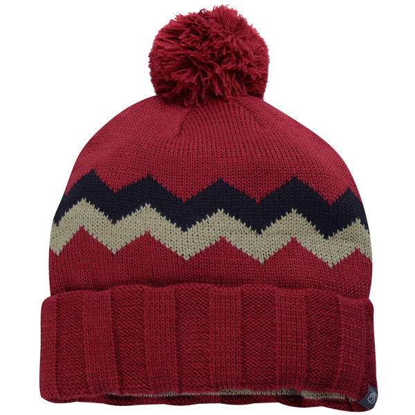 Mens Bobble Hat Knitting Pattern : Craghoppers Mens Knitted Bobble Hat - Dark Red - One Size ...