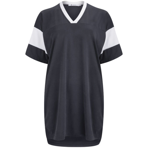 T by Alexander Wang Women's Football Tee Dress - Fossil