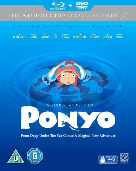 Ponyo Blu Ray / Dvd Combi Pack