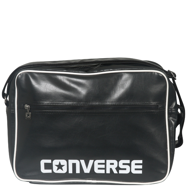 cbddd9c7f2 Converse Player PU messenger bag in phantom black Mens ...