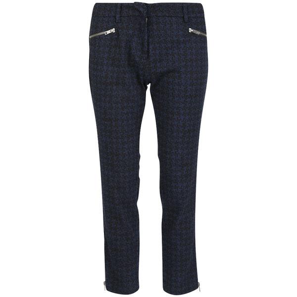 YMC Women's Crop Zip Trousers - Blue