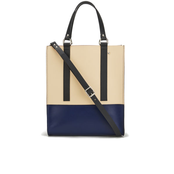 Danielle Foster Kelly Tote Bag - Beige/Blue/Black