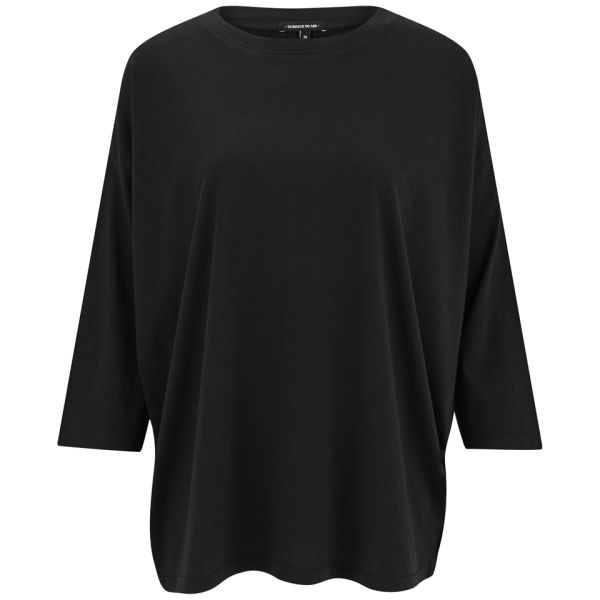 Surface to Air Women's Section Silk Back Top - Black