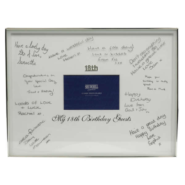 18th Birthday Signature Frame Traditional Gifts | Zavvi