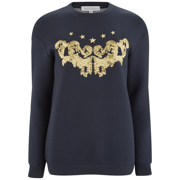 Finders Keepers Women's Call Me Up Sweatshirt - Navy/Gold