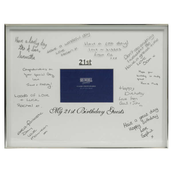 21st Birthday Signature Frame Traditional Gifts