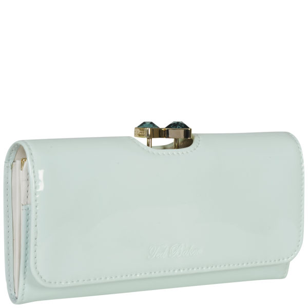 23110742b Ted Baker Women s Titiana Leather Bow Crystal Top Matinee Purse - Powder  Blue  Image 2