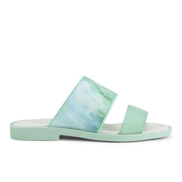 Miista Women's Isis Slip On Sandals - Aqua Marina Mint