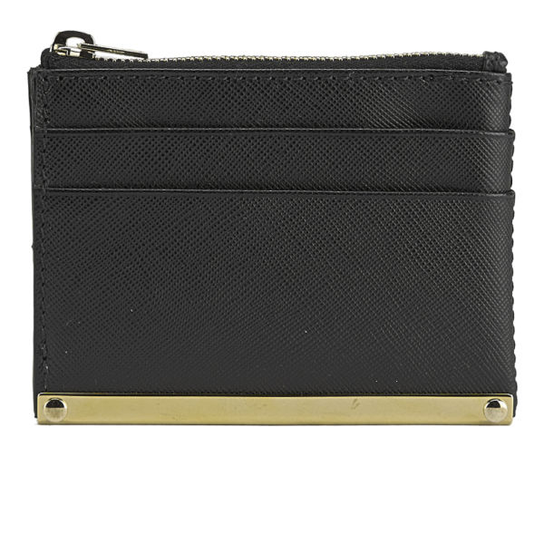 Sophie Hulme Women's Leather Card Zip Holder - Black