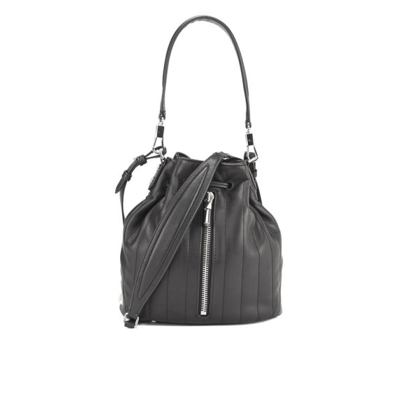 c3717f3e5b Elizabeth and James Women s Cynnie Mini Leather Quilted Mini Bucket Bag -  Black - Free UK Delivery over £50