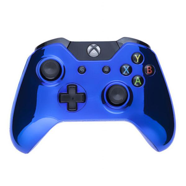 Xbox One Wireless Custom Controller - Chrome Blue Games ...