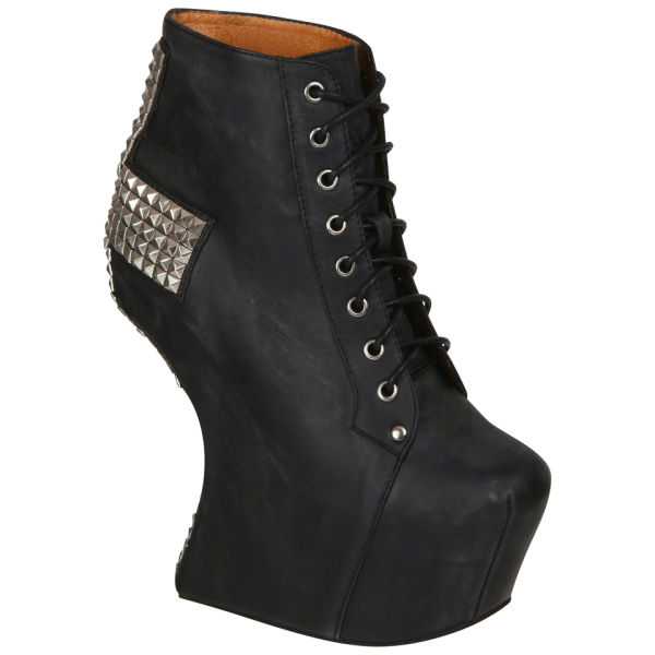 Jeffrey Campbell Women's Studded Holy Cross Boots - Black