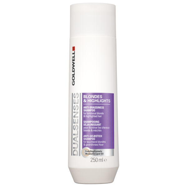 Champú para cabello rubio/con mechas Goldwell Dualsenses Anti-brassiness (250 ml)