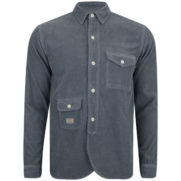 Han Kjobenhavn Men 39 S Army Shirt Blue Free Uk Delivery