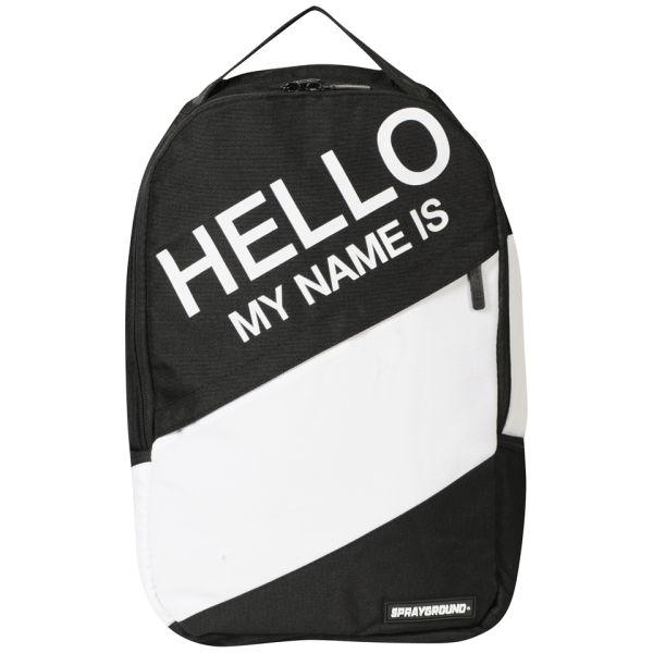 Sprayground Hello My Name Is Backpack Black White Mens Accessories Zavvi Us