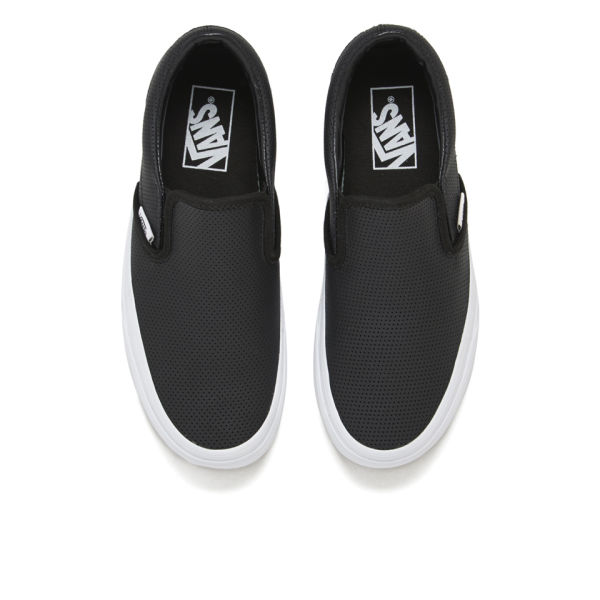 vans leather slip ons uk