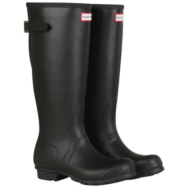 Hunter Women's Original Back Adjustable Wellington Boots - Black/ Enamel