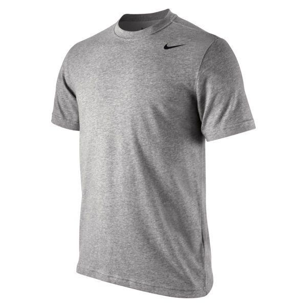 Nike Men 39 S Dri Fit Short Sleeve T Shirt Dark Grey