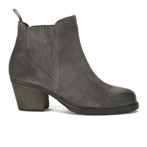 BOSS Orange Women's Ivette Suede Heeled Chelsea Boots - Charcoal
