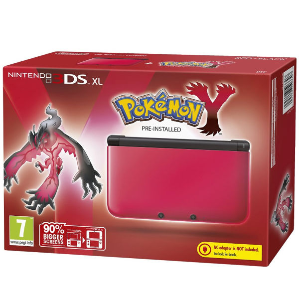 Nintendo 3DS XL Red and Black Console - Includes Pokemon Y Games ...