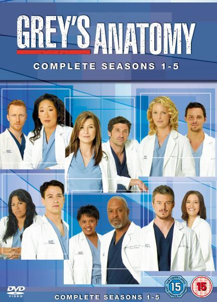 Grey\'s Anatomy - Seasons 1-5 Complete Box Set DVD | Zavvi