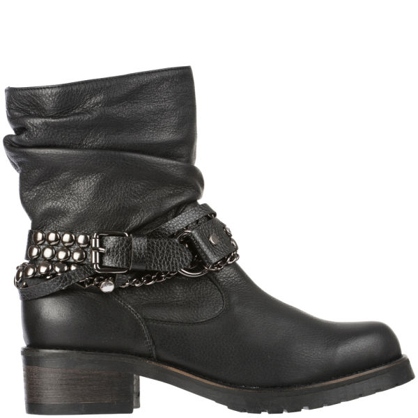 Love Moschino Women's 'Made In Italy' Biker Boots - Black