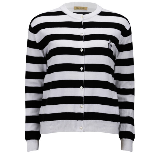 Womens Stripe Cardigan Peter Jensen Marketable Whole World Shipping Clearance Inexpensive Cheapest Sale Online Best Place Cheap Online aJ7cGQ