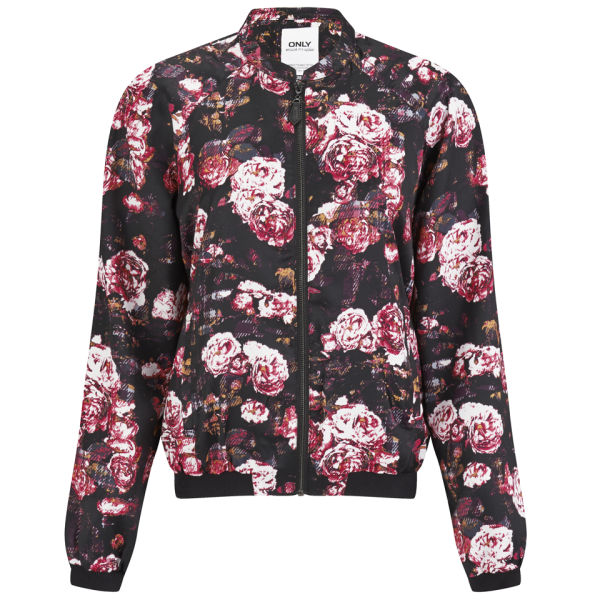 ONLY Women's Rayne Floral Bomber Jacket - Black Womens ...