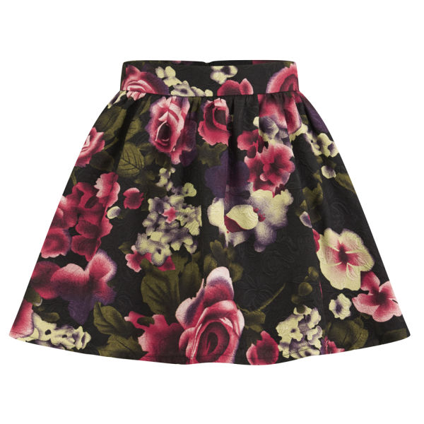 Girls On Film Women's Floral Skater Skirt - Pink