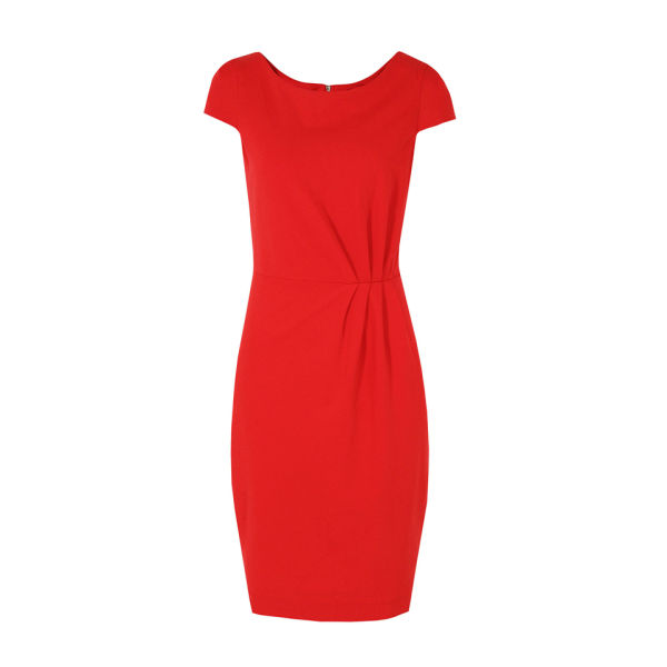 Great Plains Women's J1CE9 Madison Jersey Gather Detail Red Dress - Balloon