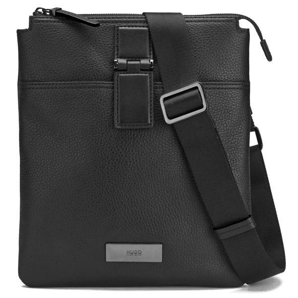 Boss Hugo Men S Rubik Leather Small Messenger Bag Black Image 1