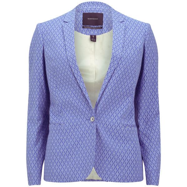 Maison Scotch Women's Jacquard Stretch Blazer - Blue