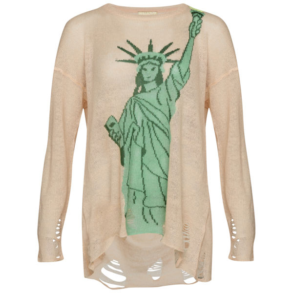 Wildfox Women's Statue of Liberty Lennon Sweater - Baby