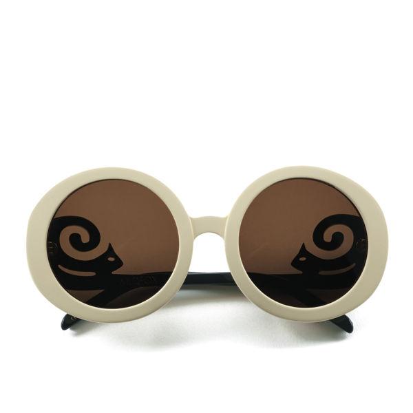 Wildfox Bianca Round Sunglasses - Cream/Black