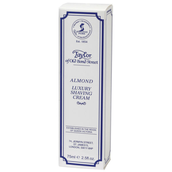 Taylor of Old Bond Street Shaving Cream Tube (2.5oz) - Almond