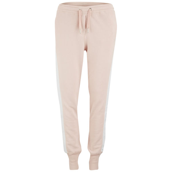 Zoe Karssen Women's Leather Stripe Sweatpants - Pink