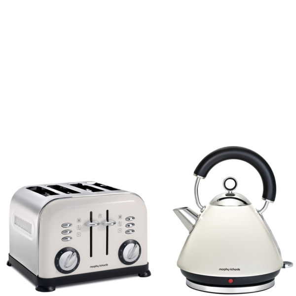 Morphy Richards 4 Slice Accents Toaster White And