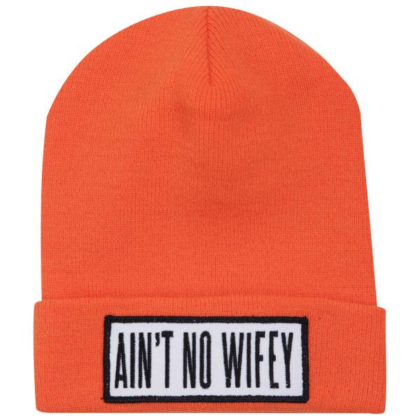 9cefb087f3ec5 Dimepiece Women s Ain t No Wifey Beanie - Orange - Free UK Delivery over £50