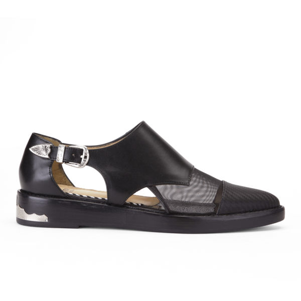 Toga Pulla Women's Buckle Leather Shoes - Black