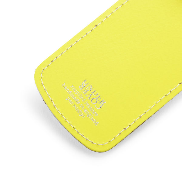 a57c3bfc188e Undercover Recycled Leather Luggage Tag - Lemon: Image 2